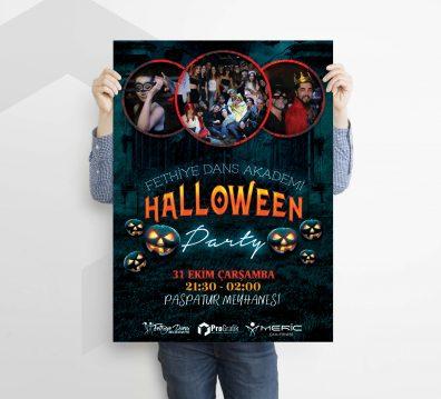 Dans Akademi Halloween Flyer Tasarımı